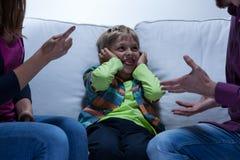 Problemas educacionais na família fotografia de stock royalty free