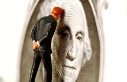 Problemas financeiros imagens de stock royalty free