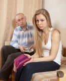 Problemas financieros en familia Imagen de archivo