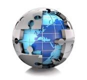 Problemas globales del rompecabezas Imagen de archivo libre de regalías