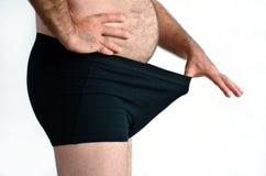 Problemas masculinos gordos do sexo da sexualidade e do homem Imagens de Stock