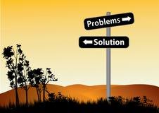 Problemas ou sinal de estrada da solução Imagem de Stock