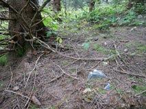 Problemas y contaminación ecológicos de la naturaleza por los desperdicios Imagen de archivo libre de regalías