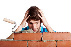 Problematic brickwall Royalty Free Stock Image