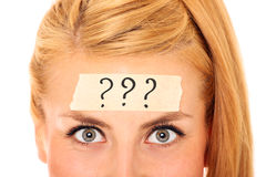 Problematic questions? stock images