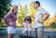Probleme einer Familie Stockfotografie