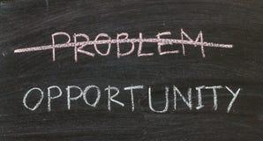Probleme heraus gekreuzt und Gelegenheit Lizenzfreies Stockbild