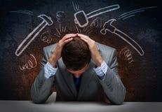 Probleme im Geschäft Stockfoto