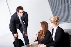 Probleme mit Angestellten Stockfoto