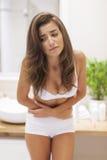 Probleme mit Magenschmerzen Lizenzfreies Stockbild
