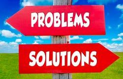 Probleme und Lösungen Lizenzfreies Stockfoto