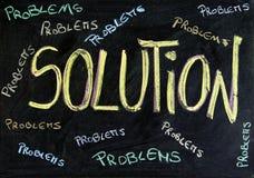 Probleme und Lösung Stockfotos
