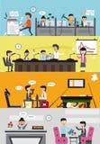Probleme und Unfälle, wenn ein schlechtes Unternehmen gehandhabt wird vektor abbildung