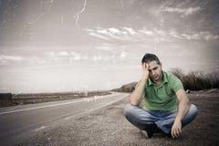 Problemen aangaande de weg Stock Fotografie