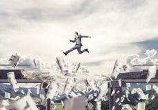 Problemen en moeilijkheden die concept overwinnen Royalty-vrije Stock Afbeeldingen