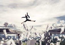 Problemen en moeilijkheden die concept overwinnen Stock Foto's