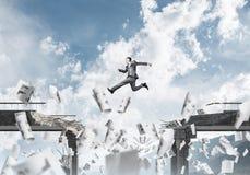 Problemen en moeilijkheden die concept overwinnen Stock Afbeelding