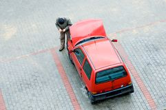 Problemen met auto Stock Afbeelding