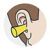 Problemen met oren Stock Foto's