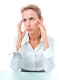 Problemen, mislukkingen, hoofdpijn stock afbeeldingen