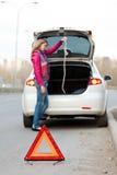 Problemen op de weg Stock Afbeelding