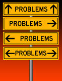 Problemen overal Stock Foto's