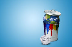Problemet av jordförorening Arkivfoton