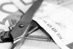 Problemi della crisi economica e della necessità salvare Immagini Stock Libere da Diritti