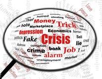 Problemi di crisi nello zoom Fotografie Stock Libere da Diritti