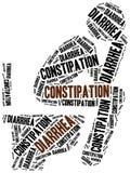 Problemi di defecazione - diarrea e costipazione illustrazione vettoriale