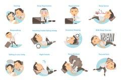 Problemi di sonno royalty illustrazione gratis