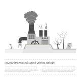 Problemi ecologici: inquinamento ambientale Illustrazione di Stock