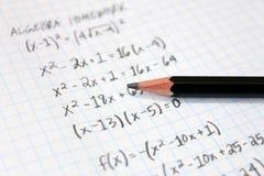 Problemi per la matematica Fotografia Stock