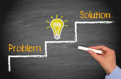 Problemidé och lösning arkivbild