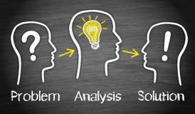 Problemowa analiza i rozwiązanie obrazy royalty free