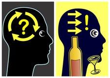 Problemowego solver alkohol Fotografia Royalty Free