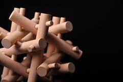 problemowej łamigłówki rozwiązany drewniany Obraz Royalty Free