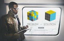 Problemowy rozwiązanie strategii kłopotu trudności pomysłów pojęcie zdjęcia stock