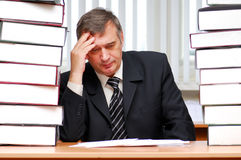 Problems... Bisiness. -- Businessman solutions the problem Stock Photo