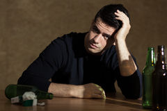 Problems with alcohol Stock Images