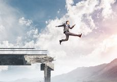 Problems and difficulties overcoming concept. Royalty Free Stock Photo