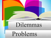 Problems Dilemmas Means Tight Spot And Difficulty Royalty Free Stock Image