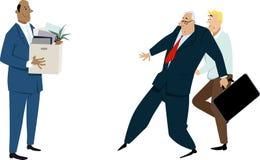 Problems of diversity hires. Diversity hire meeting discrimination and prejudice, EPS 8 vector illustration royalty free illustration