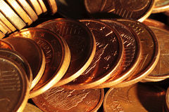 Problems of economic crisis and the need to save. Euro coins scene expressing the problems of economic crisis and the need to save Royalty Free Stock Image