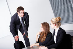 Problems with employees Stock Photo