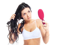 Problems with hair Royalty Free Stock Images