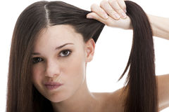 Problems with Hair Stock Photo
