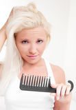 Problems with hair Royalty Free Stock Photography