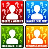 Problems. Having personal problems and worries Royalty Free Stock Images