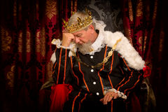 Problems of a king Stock Image